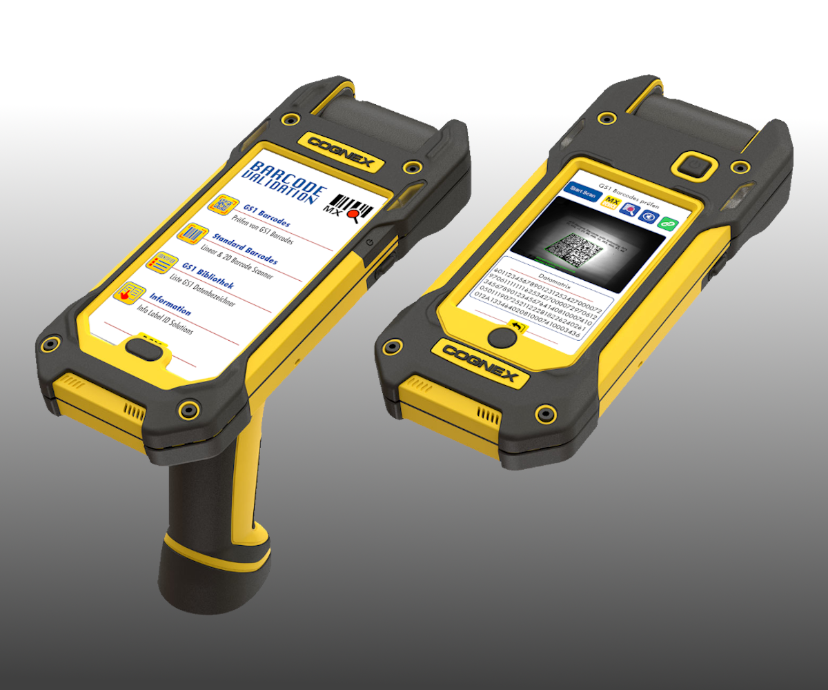 For barcode checking and data acquisition, the Cognex systems offer an optimal, robust solution with current smartphones and optimized camera systems