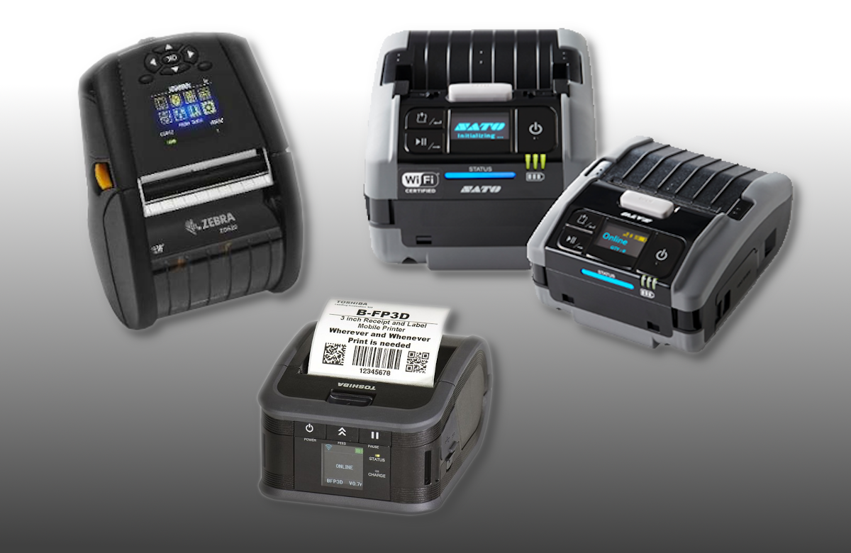 A mobile application often require label printing. We offer a wide range of mobile printers